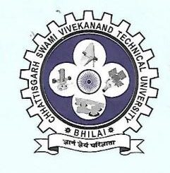 CSVTU Bhilai Recruitment